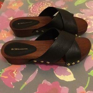 Black Crisscross Sandals